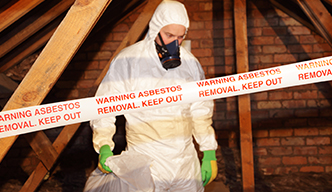 home duct taped for asbestos removal