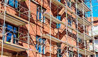 Masonry Repairs on Scaffolding