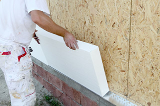 Installing Exterior Wall Insulation